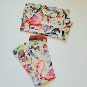H&M bundle pants/shirt sz 6-8